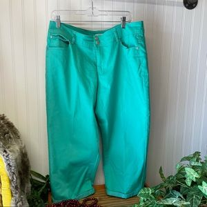 Cato Teal Capris Size 16